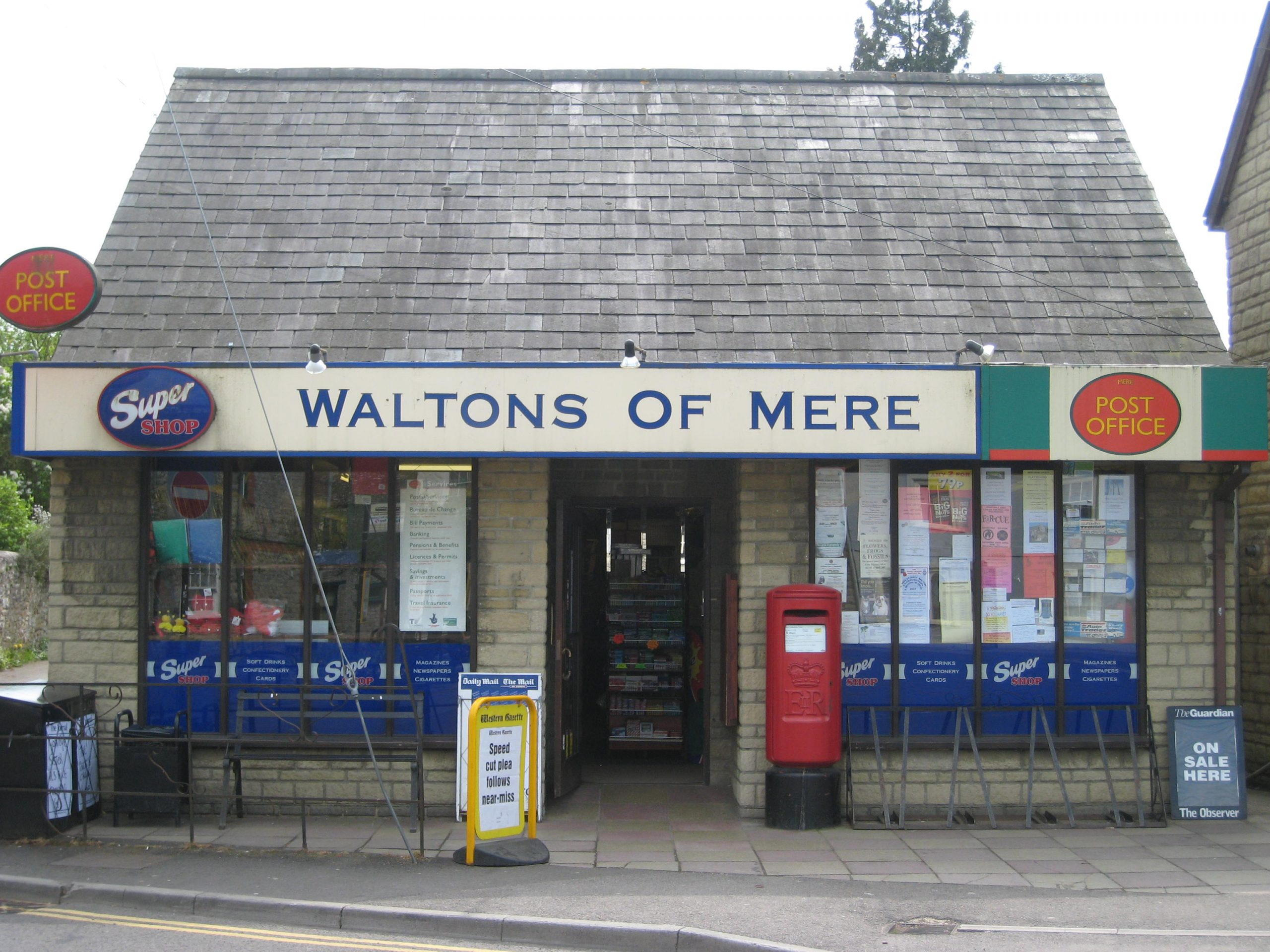 Walton's Of Mere, post office and newsagent